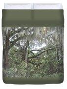 Live Oaks And Spanish Moss C Duvet Cover