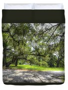 Live Oaks Dripping With Spanish Moss Duvet Cover