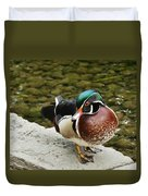 Live Pond Ornament Duvet Cover