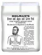 Liver Pad Advertisement Duvet Cover