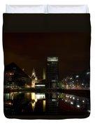 Liverpool Docks At Night Duvet Cover
