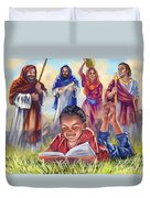 Living Bible Duvet Cover by Tamer and Cindy Elsharouni
