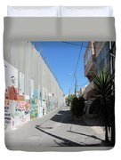 Living Next To Wall Duvet Cover