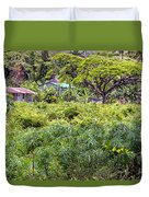 Living Off The Grid In The Waipi'o Valley Duvet Cover