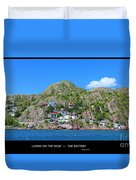 Living On The Edge -- The Battery - St. John's Nl Duvet Cover
