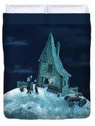 Living On The Moon Duvet Cover