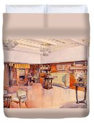 Living Room, 1905 Duvet Cover by Alfred Grenander