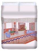 Living Room, Early 1900s Duvet Cover