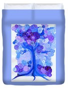 Liz Dixon's Tree Blue Duvet Cover