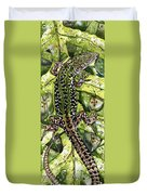 Lizard In Green Nature - Elena Yakubovich Duvet Cover