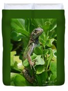 Lizard In Hedge Duvet Cover