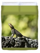 Lizard On The Wall Duvet Cover