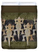 Lizards On The Wall Duvet Cover