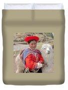 Llama Lady Duvet Cover