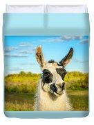 Llama Portrait Duvet Cover
