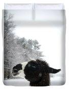 Llama Profile In Snowfall, Maine, New Duvet Cover