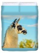 Llama Profile Duvet Cover