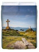 Llanddwyn Island Bench Duvet Cover