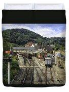 Llangollen Railway Station Duvet Cover