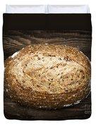 Loaf Of Multigrain Artisan Bread Duvet Cover by Elena Elisseeva