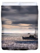 Lobster Boat Duvet Cover