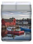 Lobster Boats At Motif 1 Duvet Cover