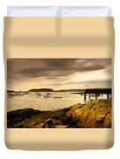Lobster Boats Cape Porpoise Maine Duvet Cover