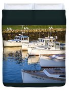 Lobster Boats - Perkins Cove -maine Duvet Cover