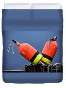 Lobster Pot Buoys Duvet Cover