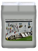 Lobster Pots And Buoys Duvet Cover