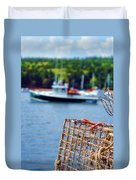 Lobster Trap In Maine Duvet Cover