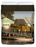 Lobster Traps On Dock Duvet Cover
