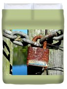 Lock And Chain Duvet Cover