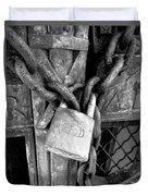 Locked - Black And White Duvet Cover