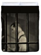 Locked Up Black And White Duvet Cover
