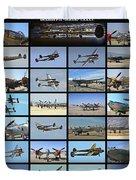 Lockheed P-38 Poster Duvet Cover