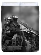 Locomotive 639 Type 2 8 2 Front And Side View Bw Duvet Cover