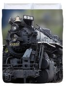 Locomotive 639 Type 2 8 2 Front And Side View Duvet Cover