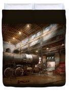 Locomotive - Locomotive Repair Shop Duvet Cover