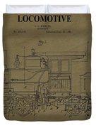 Locomotive Patent Postcard Duvet Cover