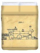 Locomotive Support Patent Drawing From 1915 1 Duvet Cover