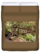 Log Bridge In The Rainforest Duvet Cover