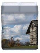 Log Cabin And November Sky Duvet Cover