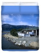 Log Cabin In Carcross Duvet Cover