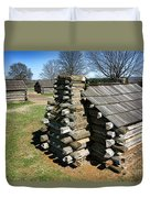 Log Cabins At Valley Forge Duvet Cover
