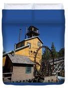 Log Flume Ride Disneyland Duvet Cover