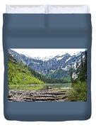 Log Jam In Avalanche Lake In Glacier Np-mt   Duvet Cover