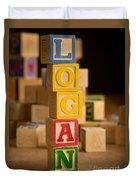 Logan - Alphabet Blocks Duvet Cover