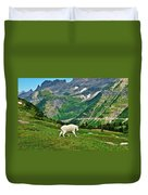 Logan Pass Mountain Goat Duvet Cover