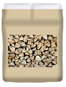Logs Background Duvet Cover